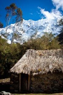 Willkapampa mountain range in the Peruvian Andes