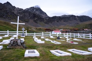 Shackleton's gravesite at Grytviken