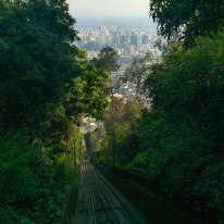 Funicular ride to the top of Cerro San Cristóbal