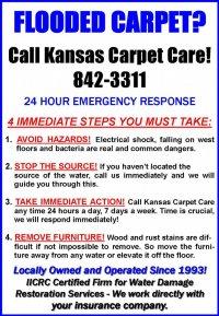 Flooded Carpet? | Kansas Carpet Care | Emergency Cleaning ...