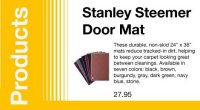 Stanley Steemer Door Mat | Stanley Steemer Carpet Cleaner ...