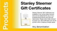 Gift Certificates | Stanley Steemer Carpet Cleaner ...