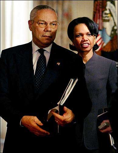 Image result for Colin Powell and Condi Rice