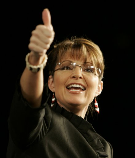 Image result for sarah palin thumbs up
