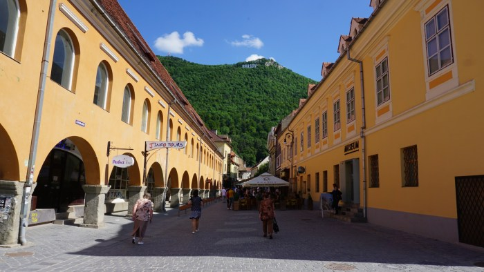 Sign of the city of Brasov