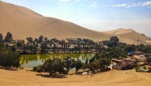 Huacachina Oasis from Lima