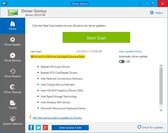 Driver Genius 21.0.0.126 Crack With License Key 2021 Free Download
