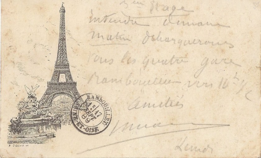 A Libonis card from the Exposition Universelle of 1889
