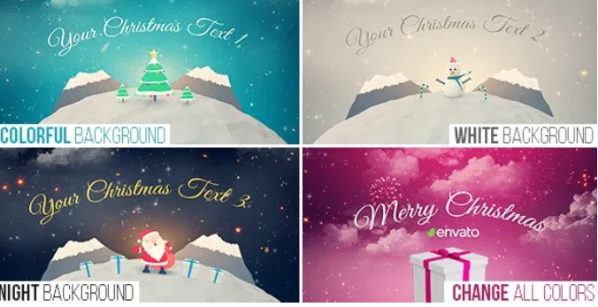 VideoHive – Christmas Logo Opener 1 – snowball Free Download