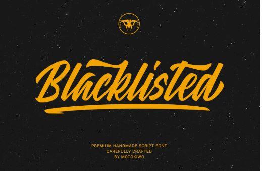 Blacklisted Script Font
