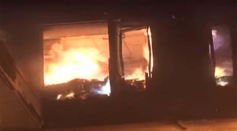 Fire break out in Karachi in a House