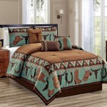 7 Piece Cow Boy Print Comforter Sets In Queen Size Bedding Collection