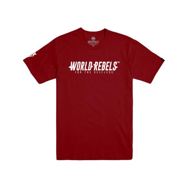 World Rebels Promo Tee Cardinal