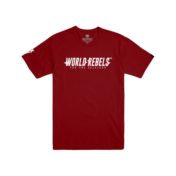 World Rebels Promo Tee Cardinal
