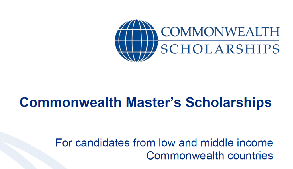 Fully-funded Commonwealth Masters Scholarships in UK 2020 [Updated]