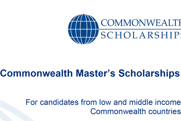 Fully-funded Commonwealth Masters Scholarships in UK 2019 [Updated]
