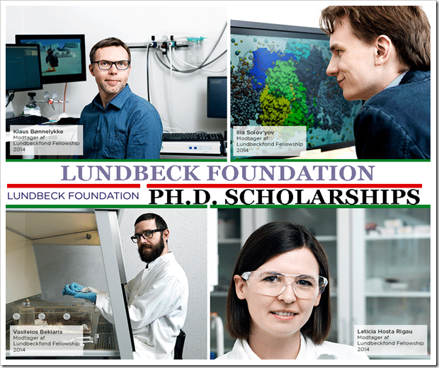 Lundbeckfonden Ph.D. Scholarships for International Students 2021-2022