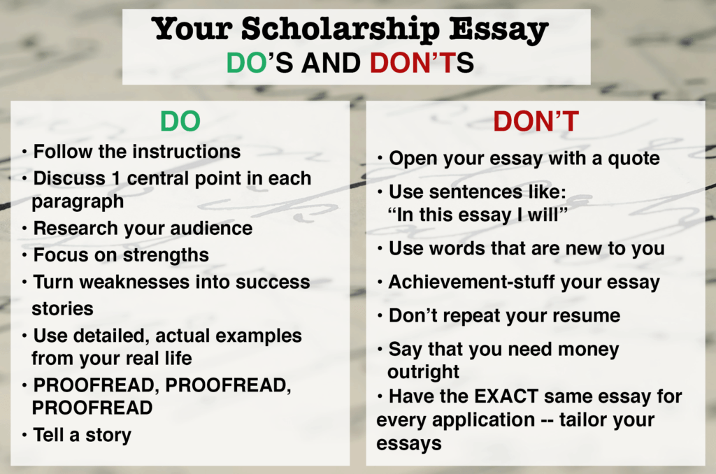 Scholarship essay papers