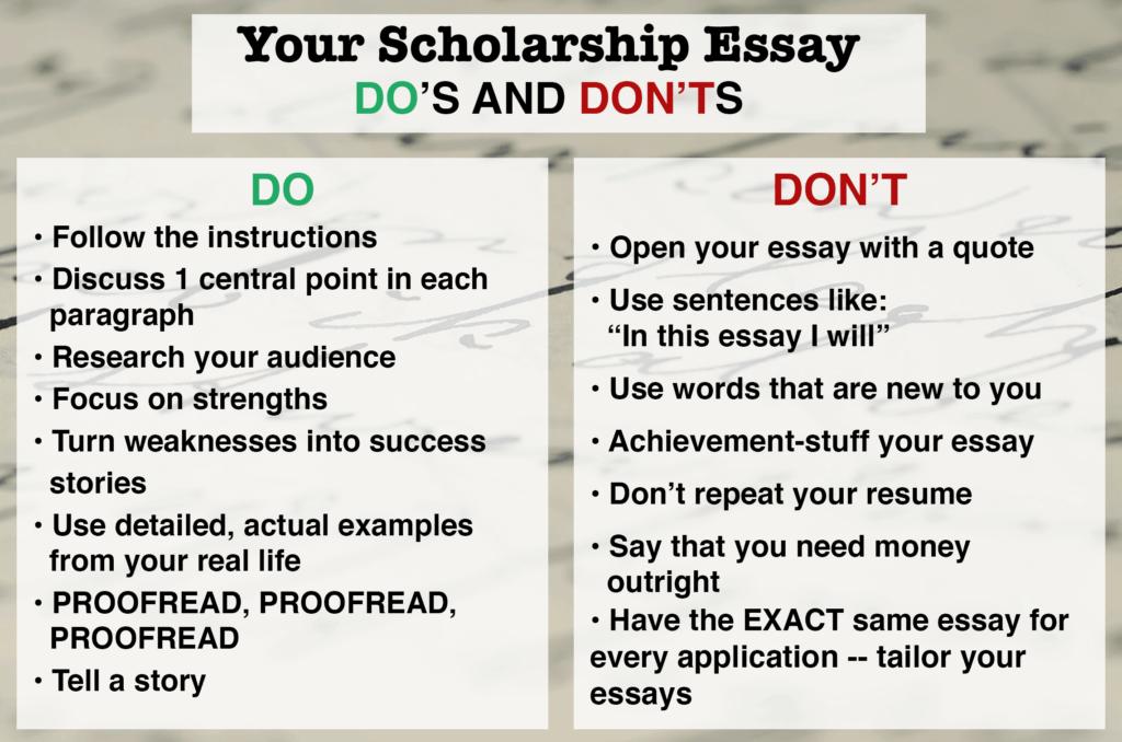 award winning scholarship essays