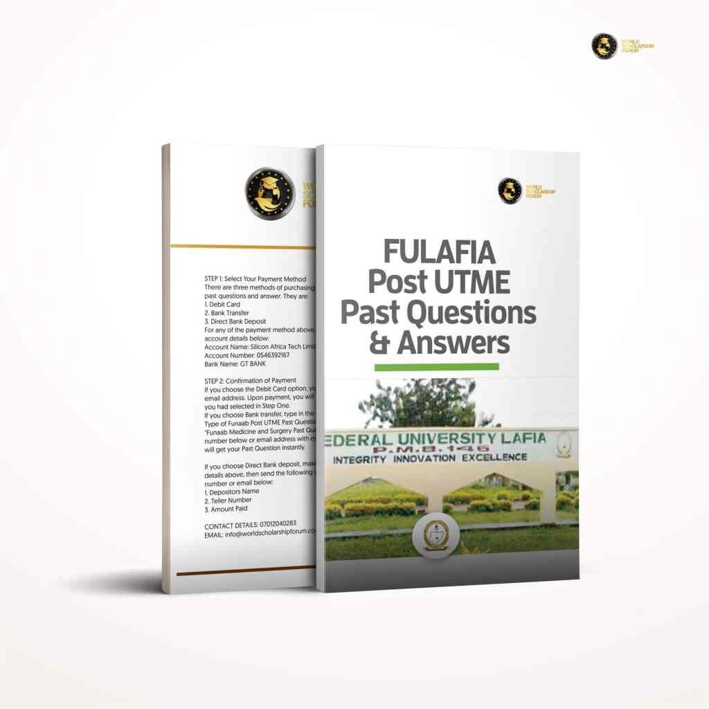 FULAFIA Post UTME Preguntas y respuestas anteriores