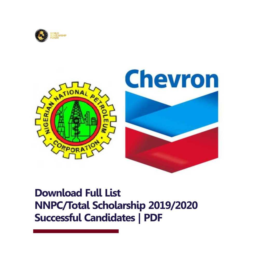 Download Full List  NNPC/Total Scholarship 2019/2020 Successful Candidates   PDF