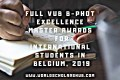 Full VUB B-PHOT Excellence Master Awards for International Students in Belgium, 2019