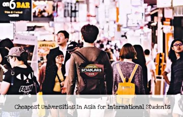 Cheapest Universities In Asia for International Students