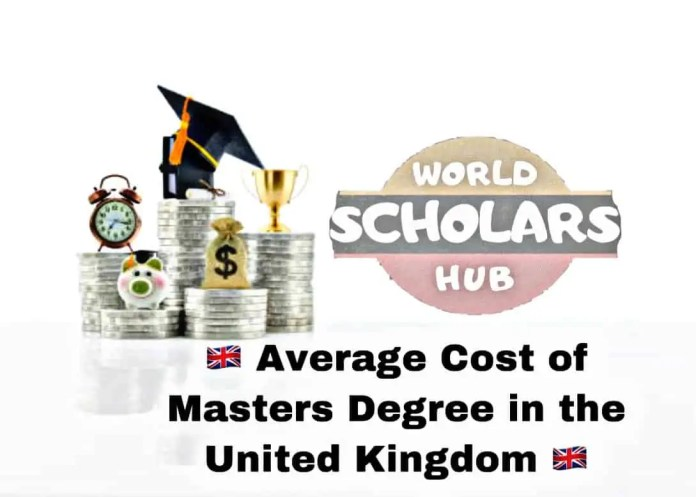 Cost of Masters Degree in UK