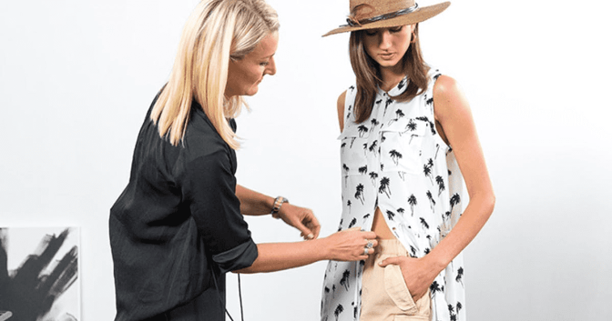 A fashion stylist is giving consultations