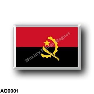 AO0001 Africa - Angola - Angolan flag