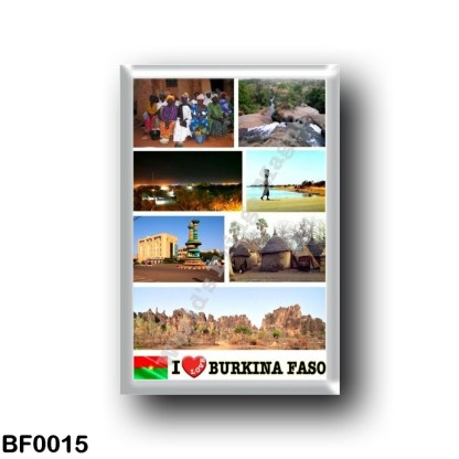 BF0015 Africa - Burkina Faso - I Love