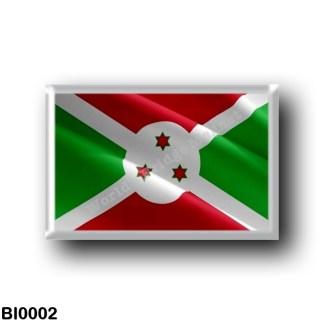 BI0002 Africa - Burundi - Flag Waving