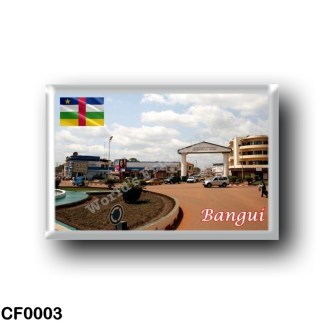 CF0003 Africa - Central African Republic - Bangui - Quartier Commerçant