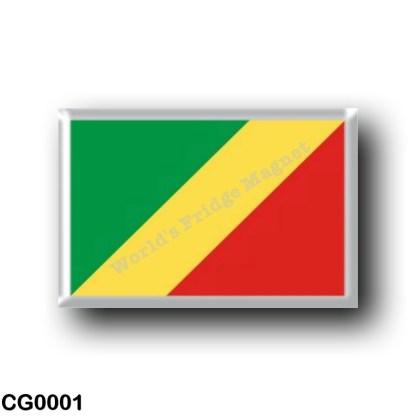CG0001 Africa - Republic of the Congo - Flag