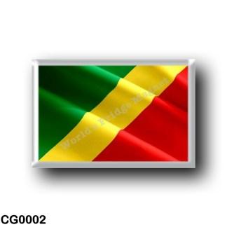 CG0002 Africa - Republic of the Congo - Flag Waving