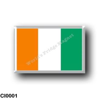 CI0001 Africa - Ivory Coast - Flag