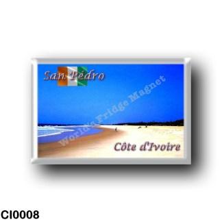 CI0008 Africa - Ivory Coast - San Pédro - Plage