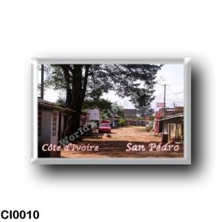 CI0010 Africa - Ivory Coast - San Pédro - Rues de la ville