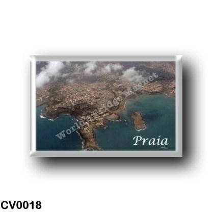 CV0018 Africa - Cape Verde - Praia - vista aerea