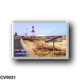 CV0021 Africa - Cape Verde - Rabil - Placa toponímica