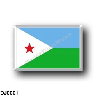DJ0001 Africa - Djibouti - Flag