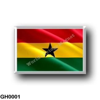 GH0001 Africa - Ghana - Ghanaian Flag - Waving