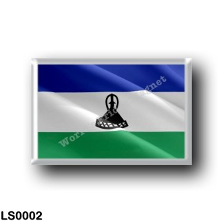 LS0002 Africa - Lesotho - Flag Waving