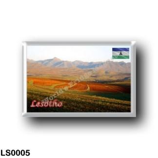 LS0005 Africa - Lesotho - Landscape