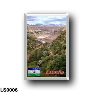 LS0006 Africa - Lesotho - Makhaleng River Gorges