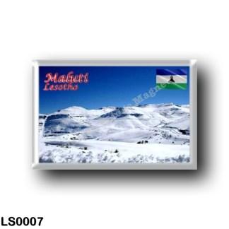 LS0007 Africa - Lesotho - Maluti - Snow