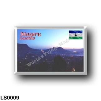 LS0009 Africa - Lesotho - Maseru - Night