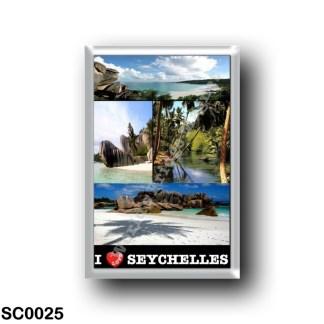 SC0025 Africa - Seychelles - La Digue - I Love