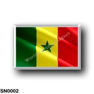 SN0002 Africa - Senegal - Flag Waving