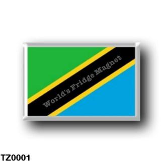 TZ0001 Africa - Tanzania - Flag